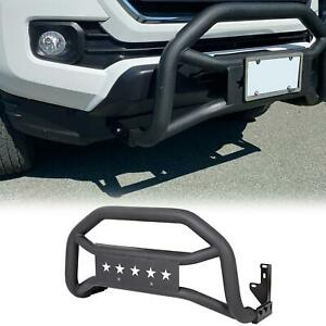 Fits 2005 2021 Toyota Tacoma Textured Black Front Bull Bar Bumper Grille Guard