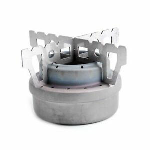 Lixada Outdoor Camping Mini Titanium Alcohol Stove Cooking Burner W cross Stand
