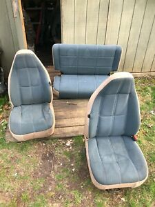 97 02 Jeep Wrangler Tj Sahara Green Camel Cloth Fabric Seat Set