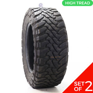 Set Of 2 Used Lt 35x12 5r20 Toyo Open Country Mt 121q 9 10 5 32