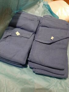 Blue Surgical Or Huck Towels 100 Cotton New Lot Of 10 Prewashed