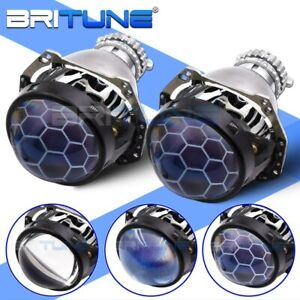 3 0 Inch H4 G5 D2s Bi xenon Lens Blue Honeycomb Projector Headlight Hella Type