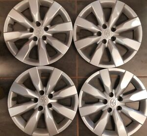 Set Of 2014 15 2016 Toyota Corolla 16 Wheel Covers Oem Hubcaps Factory 61172