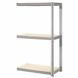 Expandable Add on Rack With 3 Levels Wood Deck 1100lb Cap Per Level 96 w X