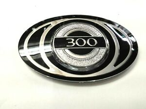 1 pc 300 300c 3d Chrome black Custom Grille Emblem 2 3 4