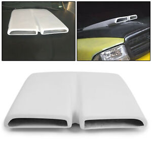 White Hood Scoop Cap Painted Fiberglass For 1970 76 Plymouth Duster
