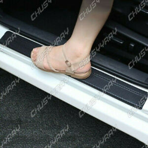 Accessories Car Interior Door Sill Scuff Cover Carbon Fiber Vinyl Wrap Sticker