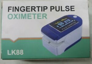 Lk88 Fingertip Pulse Oximeter Spo2 Heart Rate Monitor Blood Oxygen Saturation