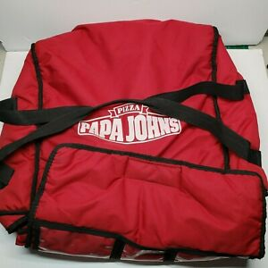 Papa John s Pizza Large Insulated Thermal Red Delivery Bag