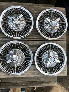 Vintage Chevy 14 Wire Spinner Hubcaps