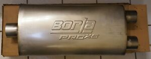 Borla 40348 Proxs Muffler Stainless Steel Oval 2 5 Center In Dual Out
