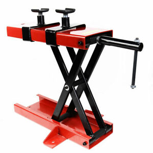 New 1100 Lb Mini Scissor Lift Jack Atv Motorcycle Dirt Bike Scooter Crank Stand