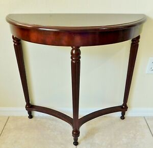 The Bombay Company Mahogany Wood Half Moon Demilune Console Accent Table