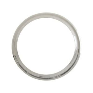 Model A Ford Wheel Trim Ring 19 Smooth Stainless Steel 28 22077 1