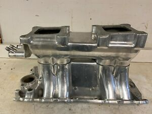 Weiand Polished Aluminum Cr 1985 Bbc Big Block Chevy Tunnel Ram Intake Manifold