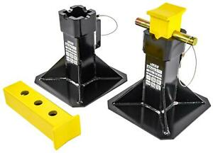 Jegs 80107 22 Ton Jack Stands Height Range 11 1 2 In To 19 5 16 In Base 19 I