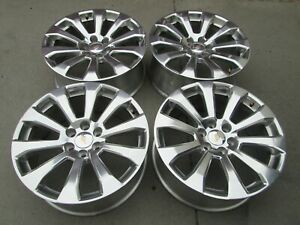 22 Chevy 1500 Tahoe Silverado Factory Polished High Country Wheels Rims Set 4