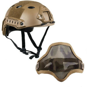 Airsoft Tactical Paintball Protective Combat FAST Helmet Riding Gaming w Mask $33.29
