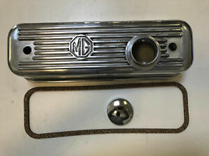 Brand New Polish Finish Alloy Valve Cover For Mga Mgb 1955 80 New Made In U k