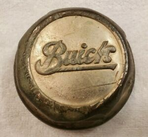 Vintage Buick Screw On Wheel Center Grease Cap Hub Cap 1920 s 1930 s Brass