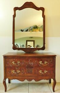 Beautiful Davis Cabinet Co Solid Wood Console Chest Of Drawers Dresser Mirror