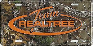 Team Realtree Camo Metal License Plate