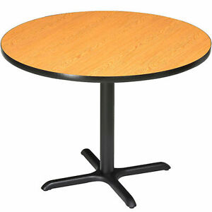 Round Counter Height Restaurant Table Oak 36 w X 36 h