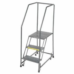 Ballymore H318p Perforated 16 w 3 Step Steel Rolling Ladder 10 d Top Step