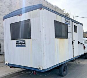 8 X 16 Office Trailer With Steps Camper Hunting Cabin Cabin