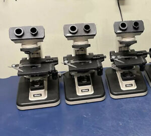 Lot Of Six 6 Nikon Alphaphot Ys2 h Lab Microscopes For Parts Microscope