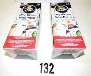 2x Crayola Take Note Dry erase Wall Paint 2x20 Sq Ft Clear 2 packs
