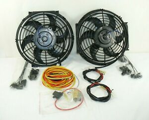 Dual 10 Inch High Performance Electric Radiator Cooling Fans W Wiring Kit