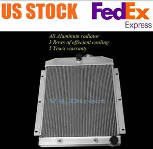 3 Rows Aluminum Radiator For 1947 1954 1953 1952 Chevy Truck 3100 3600 3800