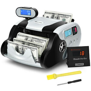 Costway Money Counter Bill Counting Machine W Uv mg ir mt Counterfeit Detection