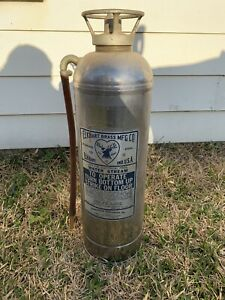 Elkhart Brass Mfg Co Stainless Steel Water Stream Fire Extinguisher untested
