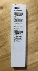 Drager Ch28101 Hydrogen Sulfide 2 7 Test Tube 10 box draeger