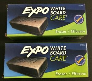 Lot 2 Expo Dry Erasers White Board Care Eraser 5 1 8x1 1 4 81505 Free Shipping
