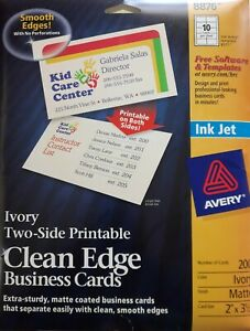 Avery Clean Edge Business Cards 8876