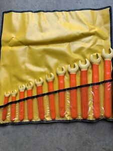 Cementex 1000v Insulated 11 Piece Open End Wrench Set 1 To 3 8