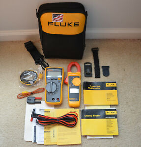 Fluke 116 323 Hvac Multimeter And Clamp Meter Combo Kit Excellent Condition