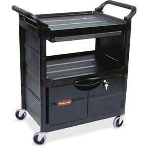 Rubbermaid Commercial Utility Cart Fg345700bla Fg345700bla 1 Each