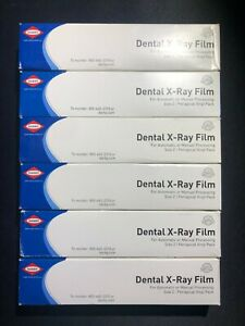 Darby Dental X ray Film Size 2 D Speed 150 1 film Packets 6 Pack Exp 2018 2019