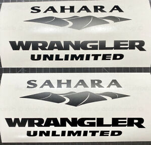 Sahara Wrangler Unlimited Decals Stickers Fit Jeep Decal Sticker Pair Vinyl