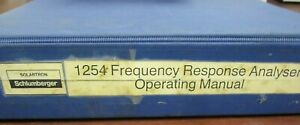 Solartron Schlumberger 1254 Frequency Response Analyser Operating Manual