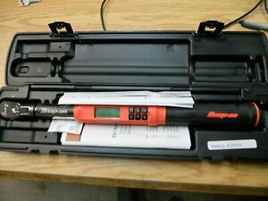 Snap On Atech2f100ob 3 8 Orange Black Digital Torque Wrench New