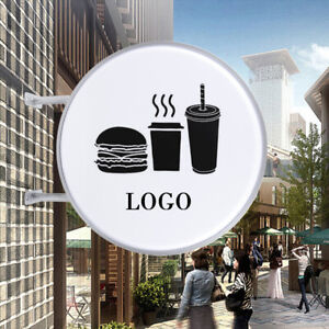 24 Led Double Sided Outdoor Round Light Box Advertising Sign Waterproof 110v