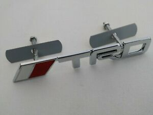 Trd Chrome Metal Badge Grill Grille Emblem Rally Style