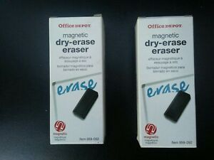 Lot Of 2 Office Depot Magnetic Dry Erase Eraser New In Boxes 959 092 Whiteboard