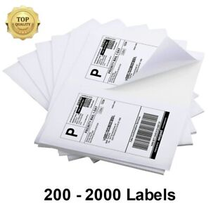 200 2000 Half Sheets Shipping Labels 8 5x5 5 Blank Self Adhesive 2 Per Sheet