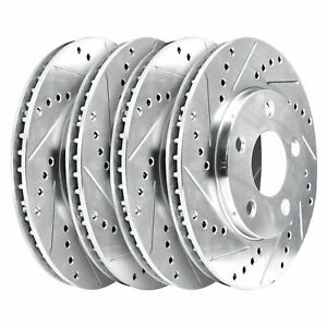 For 2002 2006 Mini Cooper Hart Brakes Front Rear Drilled Slotted Brake Rotors